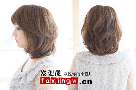 七款中发发型图片 适合圆脸mm(2)