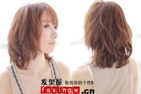 圆脸发型设计图