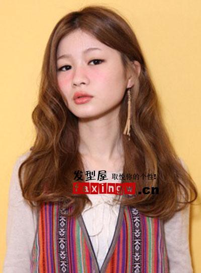 日系甜美发型巧修脸型 方脸不用再发愁(6)