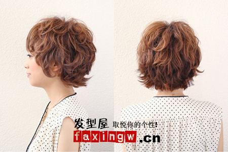 最新圆脸短发发型 冬季圆脸轻易修饰(2)