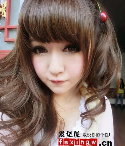 发型网 脸型发型 圆脸适合发型 > 多款可爱娃娃脸发型 娃娃脸美女亲自