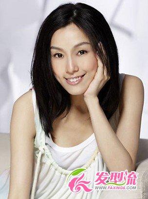 小长脸发型设计 范范范玮琪明星发型(5)图片