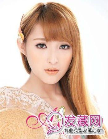 长脸适合什么发型 让可爱刘海拯救你(2)