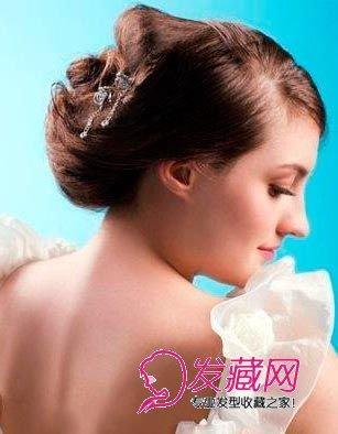 女人味浓厚的新娘发型