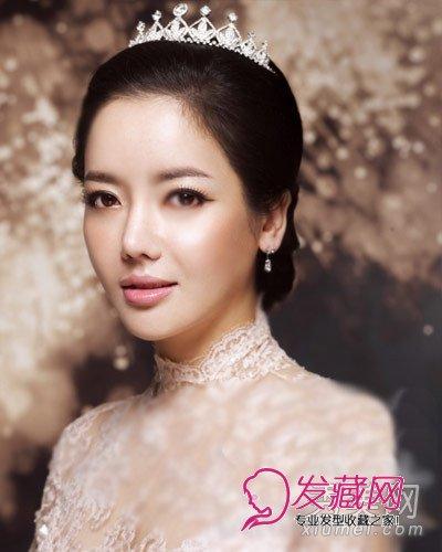 9款韩式新娘发型 皇冠头饰浪漫唯美图片