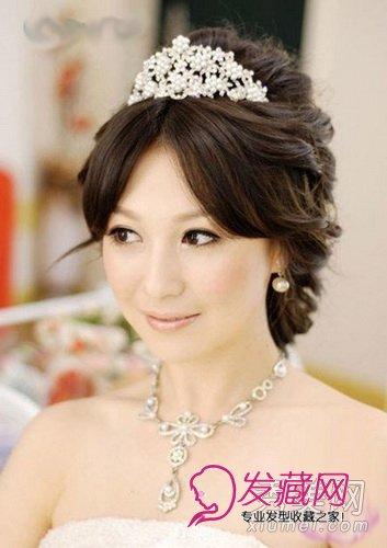 9款韩式新娘发型 皇冠头饰浪漫唯美(7)图片