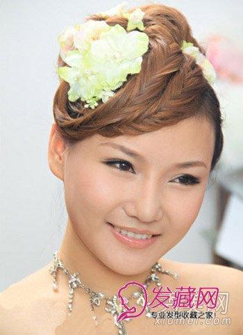 新娘发型比较图片 5款日韩欧式新娘盘发推荐(3)