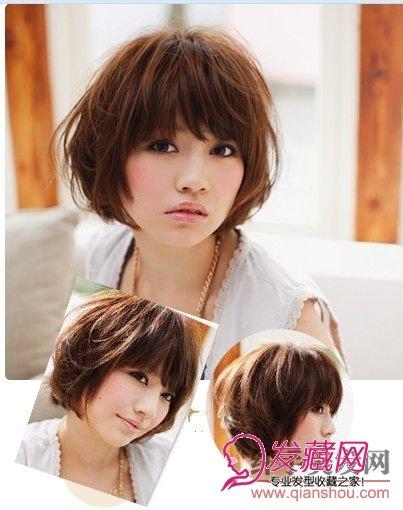适合打造空气感卷发,将头发拉起来吹,用发蜡抛松 →夏季清爽的短发