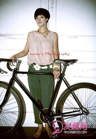 【图】单车女生的超短发发型图片(3)_短发发型