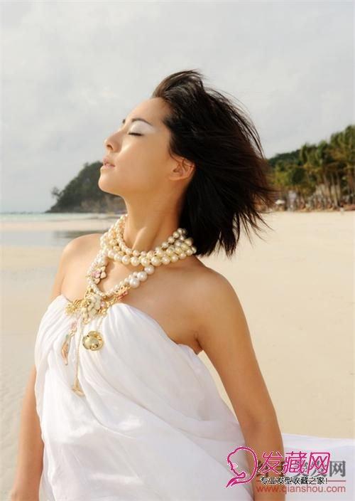 【图】张茜沙滩性感菲律宾短发写真图片(9)v沙滩流行性感冒的图片