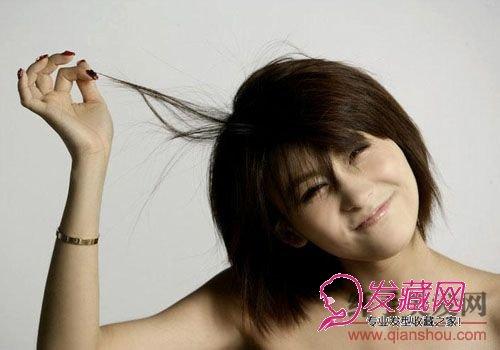 女生大笑阳光头像短发