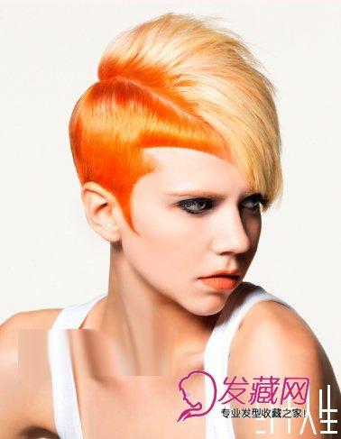 <strong>沙宣短发发型图片 色彩分层</strong>
