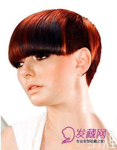 沙宣短发发型图片 色彩分层(4)图片