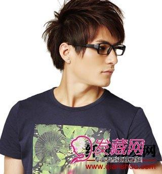 男生斜刘海发型图片(3)图片