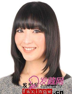 带来一款长脸合适的短发造型,长 刘海打碎剪薄,散发一种清新女人气质图片