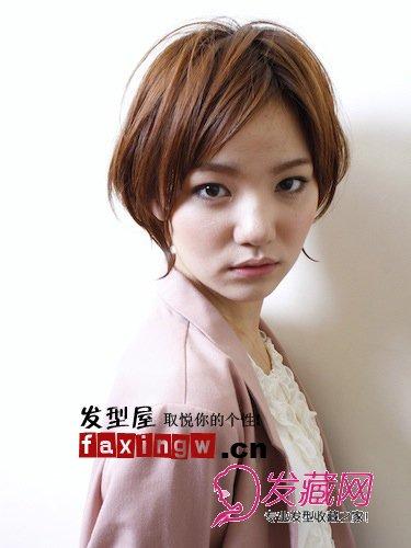 下巴短女生适合的发型图片(2)图片