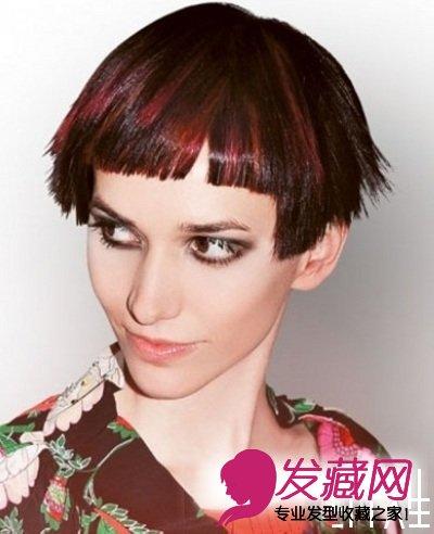 2015女士最新沙宣短发发型图片