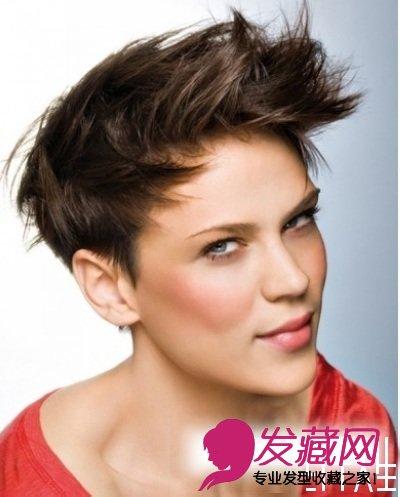 2015女士最新沙宣短发发型图片(5)