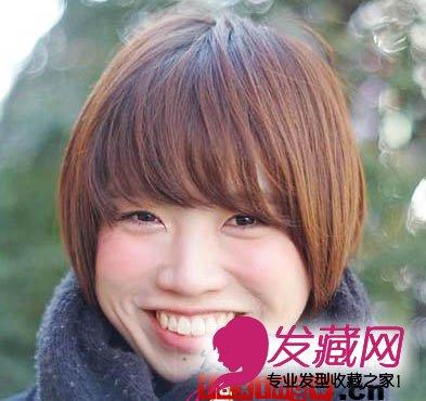发型网 发型设计 短发发型 > 长脸女孩救星 齐刘海短发发型(5)  导读