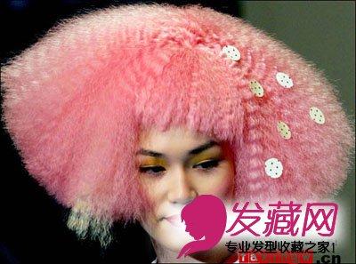 沙宣女生烫发发型图片整理 前卫个性