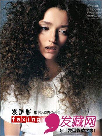 螺旋卷烫发发型图片,爆炸式的厚感头发