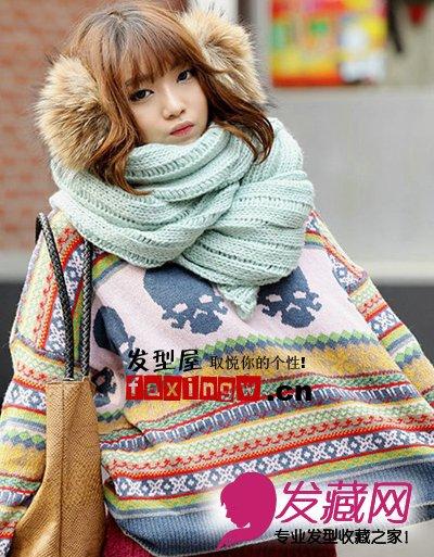 七款韩式最流行中长发烫发发型 做冬季时尚美女 5 韩式发型 发藏网