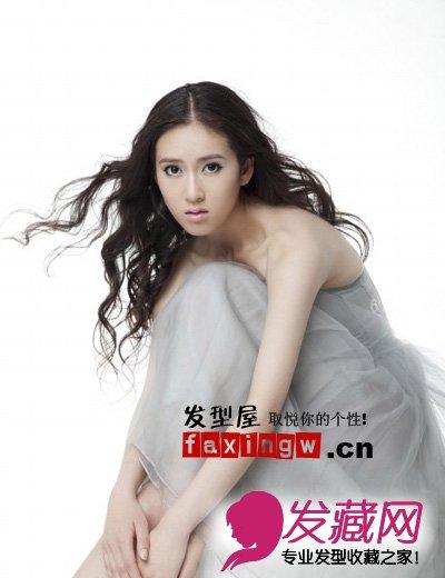 【图】女明星美丽长发发型图片