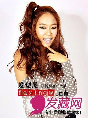 五款韩国女生发型长发女生惹人爱低美女故意胸图片