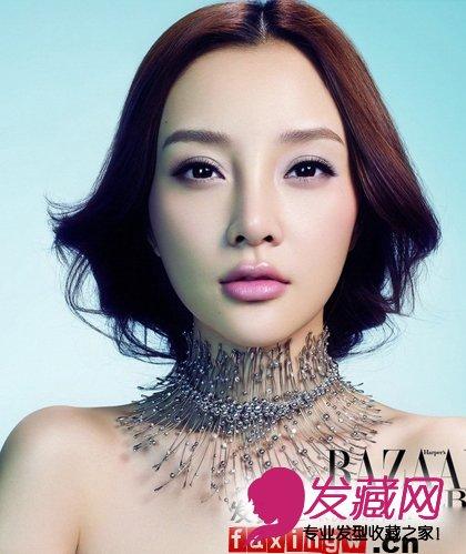 李小璐珠宝大片 女神气质发型图片欣赏(2)图片
