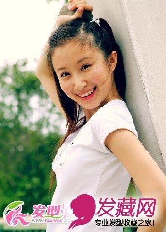 露额头侧编辫子发型 展现大方迷人气质 →女儿童发型图片 打造可爱