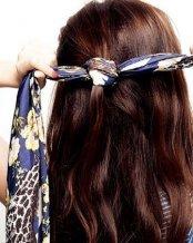 长发的扎法-浪漫丝巾编发