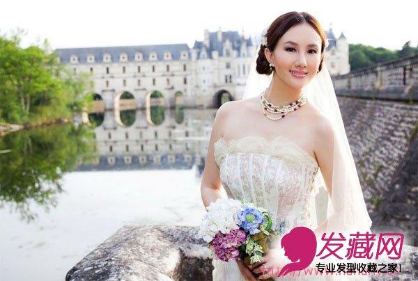 【图】孟瑶新娘发型图片-唯美婚纱照曝光
