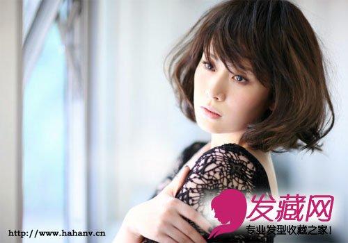 辣妈海清的漂亮短发发型图片