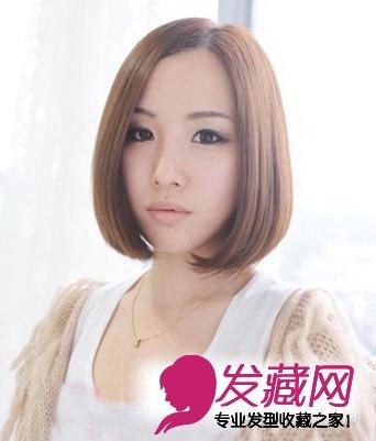 圆脸女生发型设计 遮住肉肉脸型更完美(8)