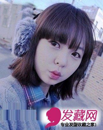 圆脸女生发型设计 短发修饰完美脸型(4)