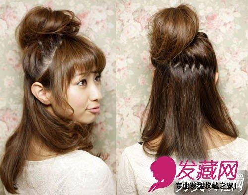 怎么扎辫子好看   可以留几丝头发在发包的外面,看起来更自然又可爱!