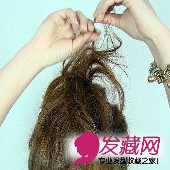 头顶上剩出来的头发哦,做爆炸一点,用手也是可以的 →夏天好想吹吹风?