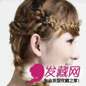 美妞发型diy波西米亚花瓣编发(6)图片
