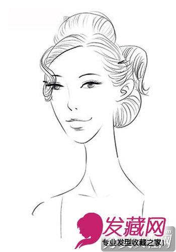 妆面图手绘发型