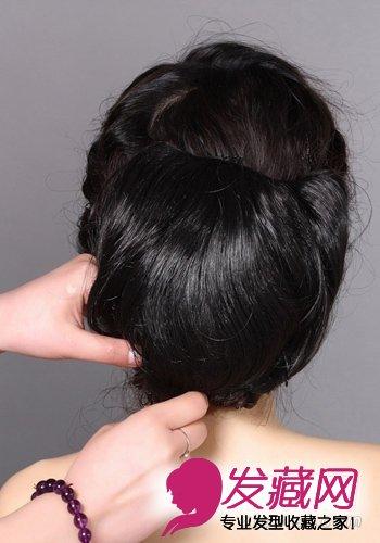 2款韩式新娘发型 图解编发盘发过程(6)