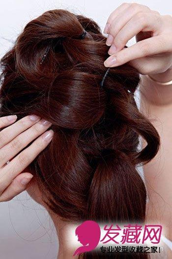 花样盘发发型图片 零技巧打造赛明星(8)
