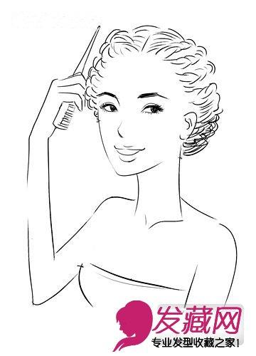 手绘图头发造型