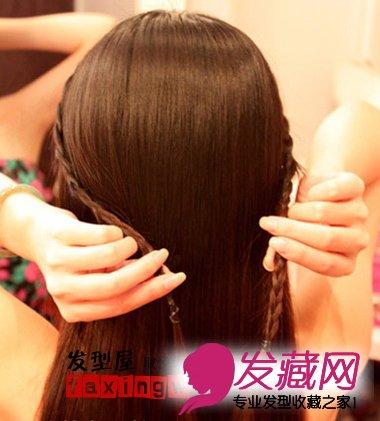 冬季直发发型扎法 简单的麻花辫造型 →简单直发发型扎法 刘海打造
