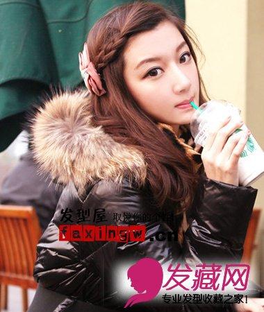 > 简单好看发型扎法图片(5)  导读:刘海 编发想要营造出浪漫淑女的小图片