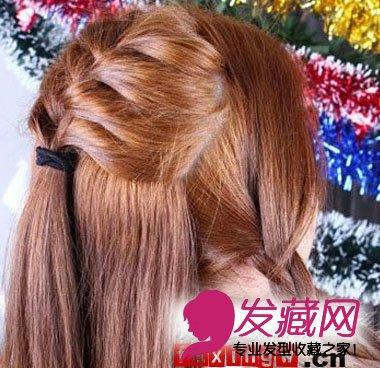 发型网 发型设计 直发发型 > 中长直发盘发技巧(3)  导读:步骤4 在