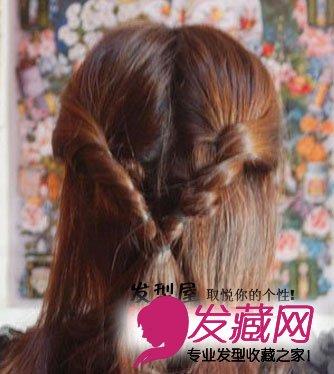 【图】冬季中长发发型扎法图解(4)