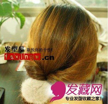 直发中长发发型扎法步骤(5)图片