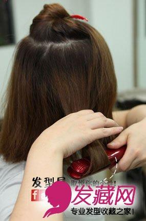 【图】最新韩式中短发发型扎法