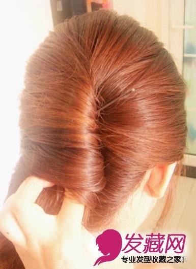 发型网 女生发型 女生韩式发型 > 简单韩式扎发盘发图解 打造名媛淑女