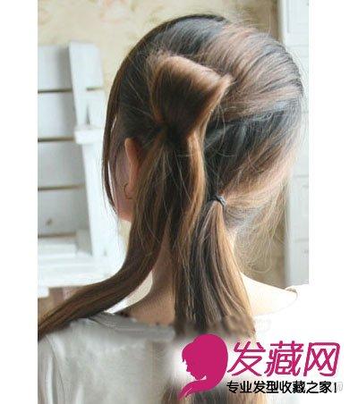 秀美发型diy 韩式花瓣头发型扎法(2)